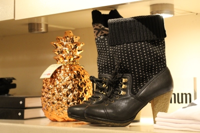 It's finally getting cold out, so pick up a pair of these adorable boots (with built in socks) for your special girl.